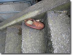 脱げていた靴