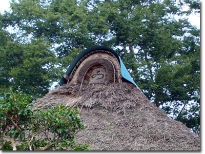 茅葺き屋根の模様